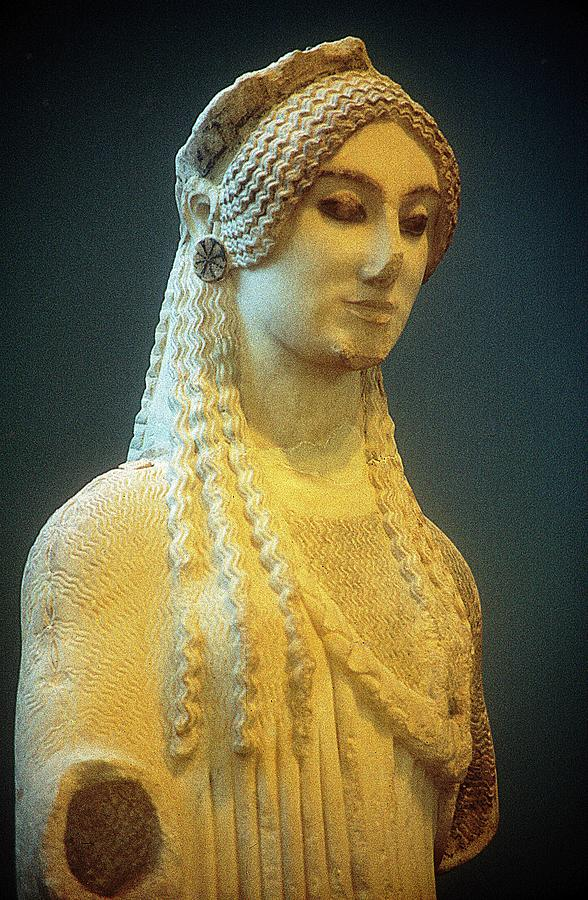 Kore Statue Photograph - Athenian Kore by Andonis Katanos
