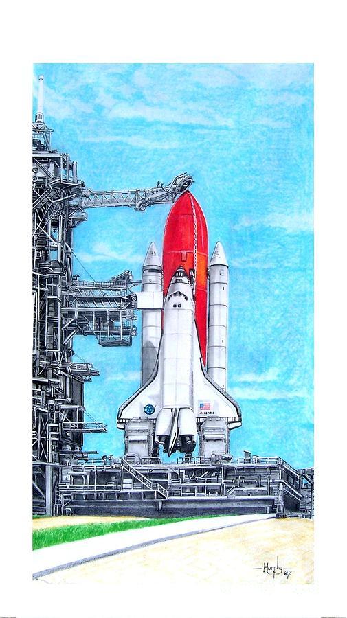 Drawing Drawing - Atlantis by Murphy Elliott