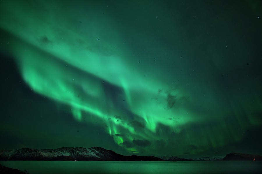 Horizontal Photograph - Aurora Over Seiland by Espen Ørud
