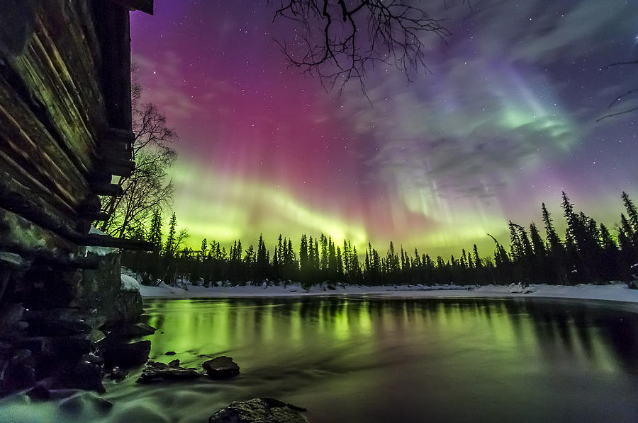 Auroras At The Mill Photograph By Markus Kiili