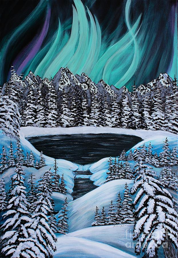 Barbara Griffin Painting - Auroras Fiery Display by Barbara Griffin
