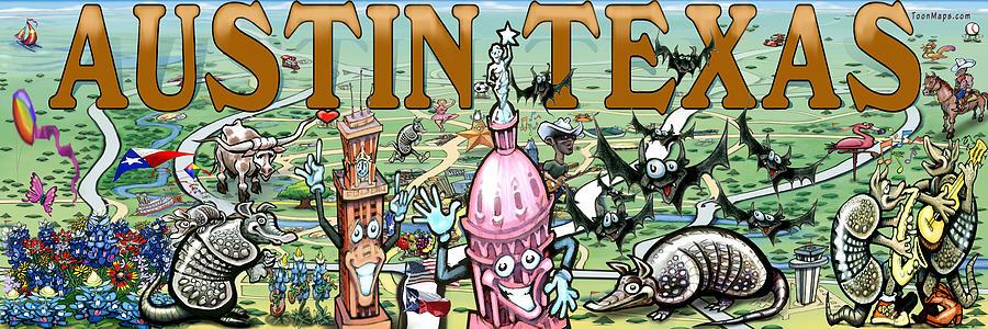 Austin Texas Fun Art Digital Art