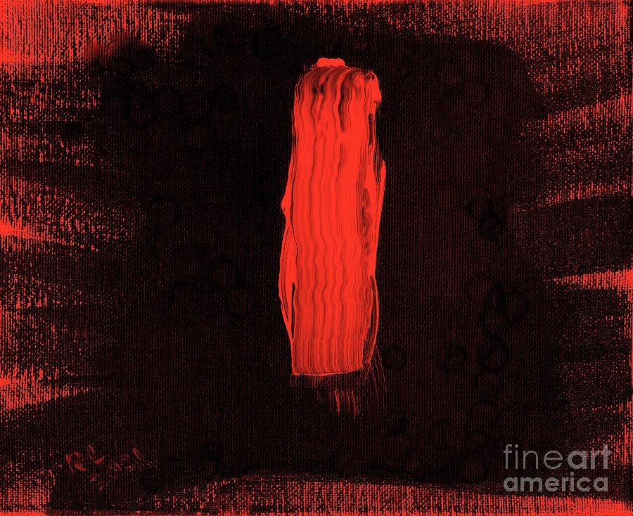 Aborigine Man Painting - Australian Aborigine Man 2 by Richard W Linford