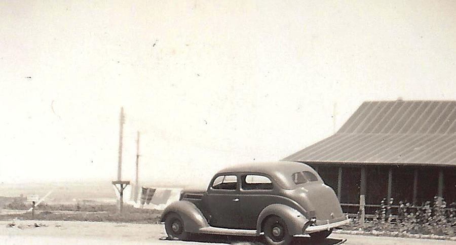 Auto At Fort Peck Montana Photograph