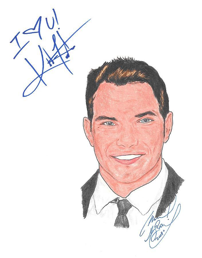 Autographed Kellan Lutz Drawing
