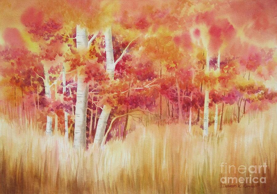 Autumn Trees Painting - Autumn Blaze by Deborah Ronglien