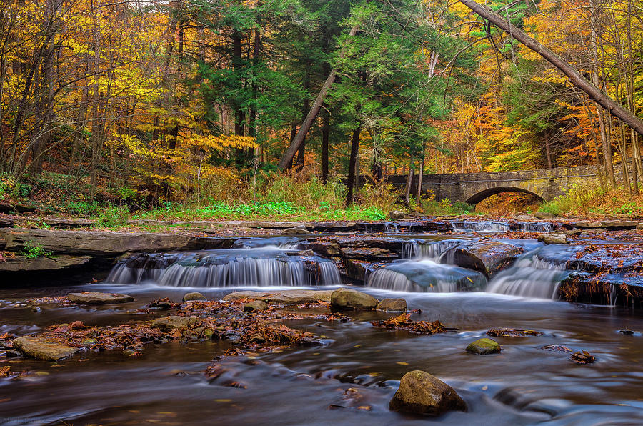 Autumn Cascades Photograph