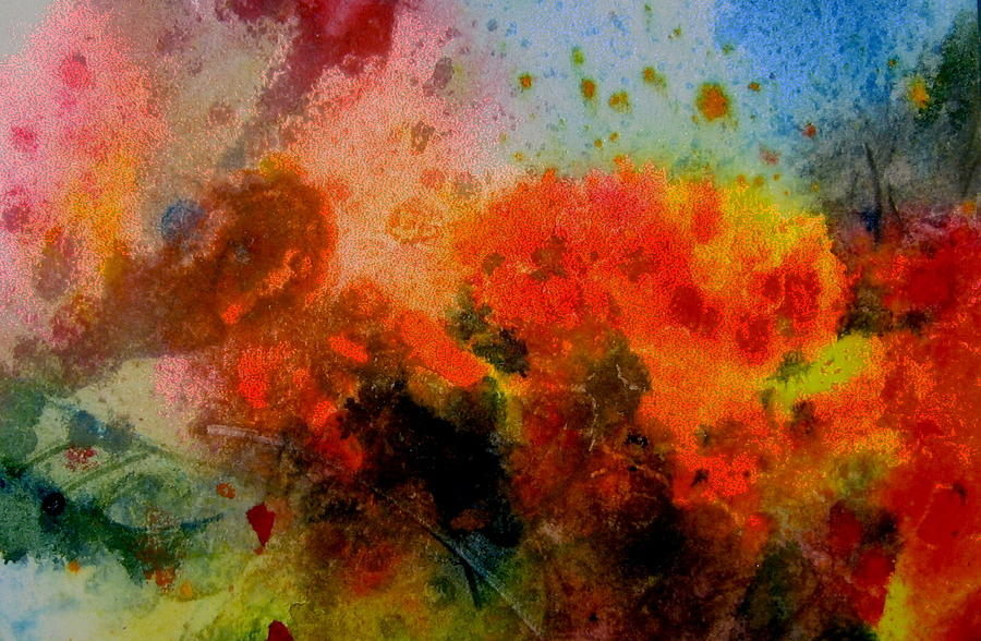 Sky Painting - Autumn Garden by Anne Duke