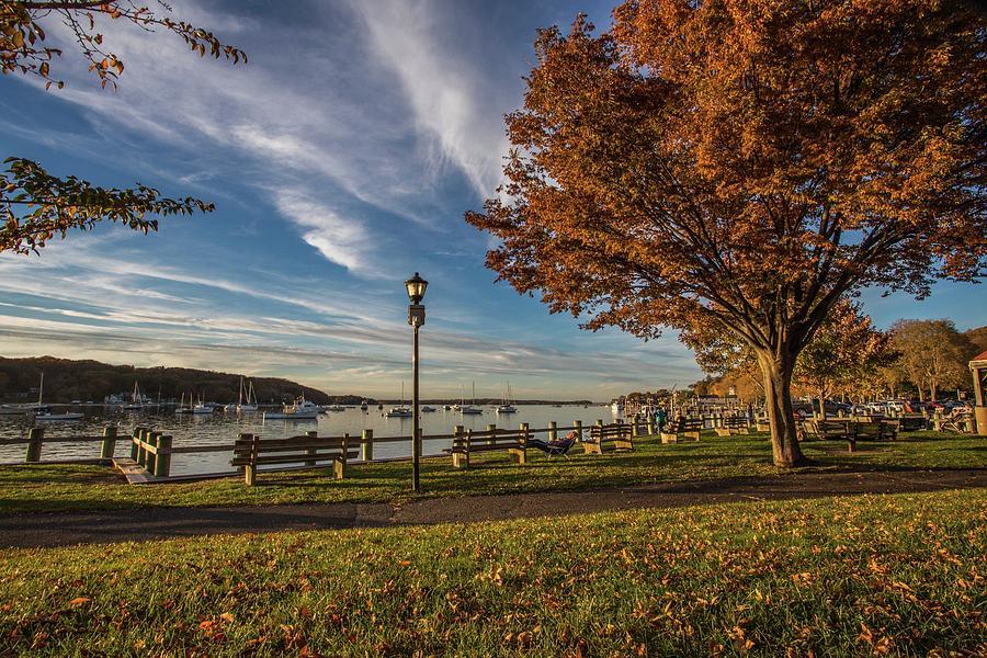 Autumn Harbor View Photograph