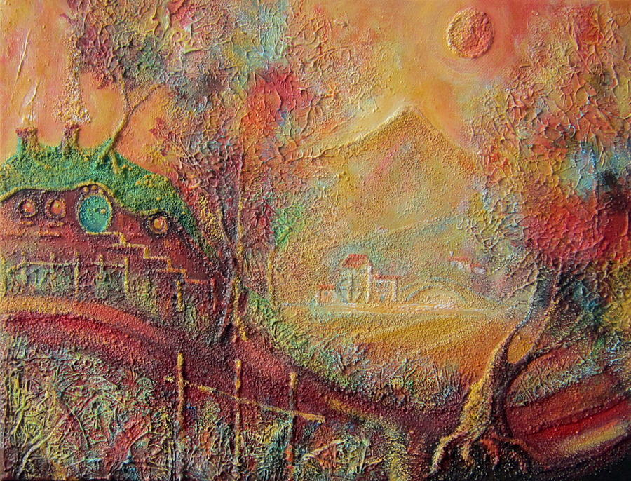 Tolkien Painting - Autumn In The Shire Bag End by Joe  Gilronan