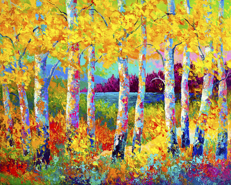 Trees Painting - Autumn Jewels by Marion Rose
