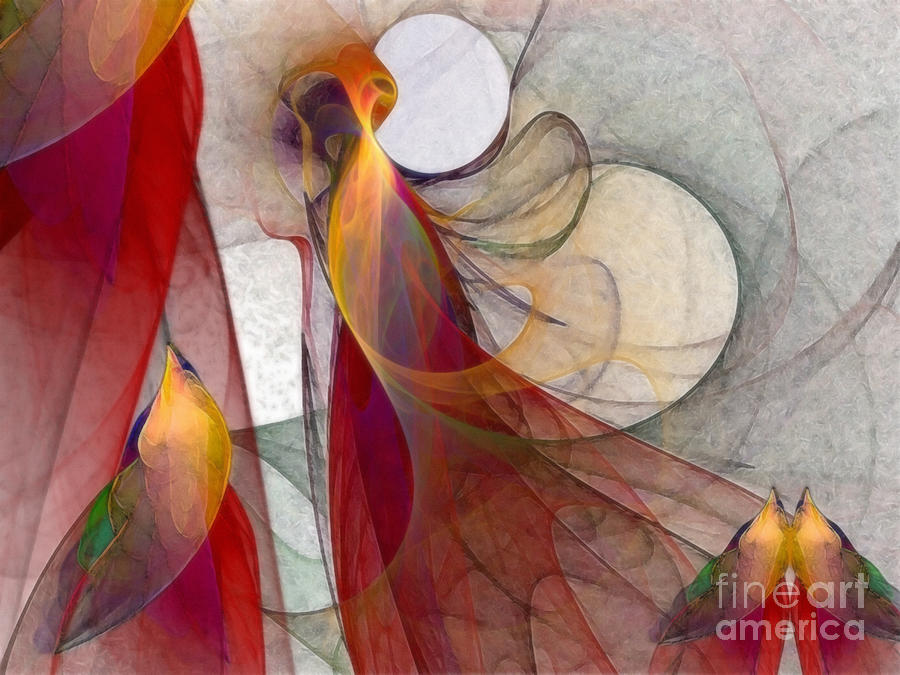 Abstract Digital Art - Autumn by Karin Kuhlmann