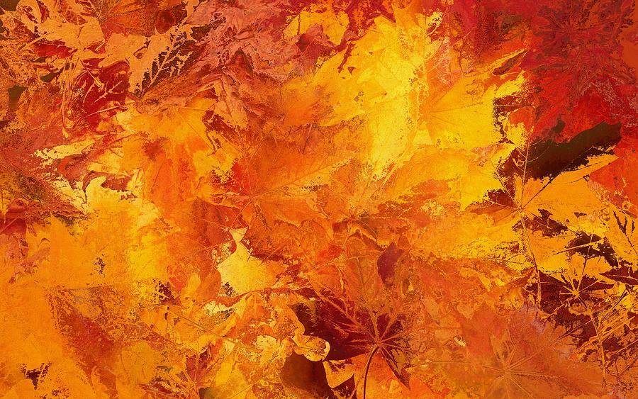 Autumn Leaves Abstract Painting By Dan Sproul