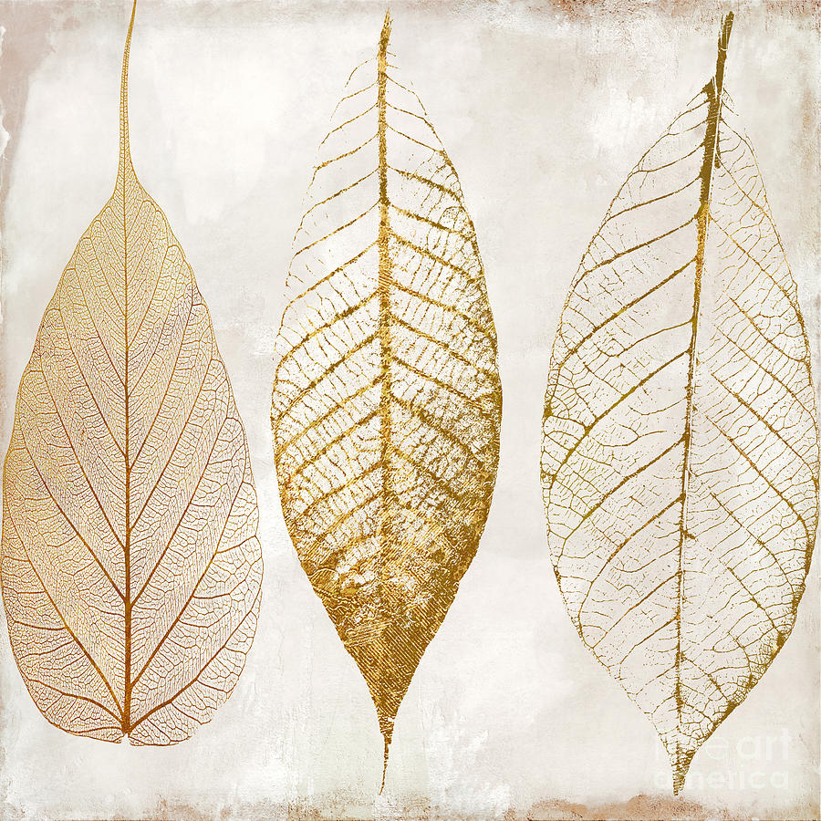 Autumn Leaves Iii Fallen Gold Painting By Mindy Sommers