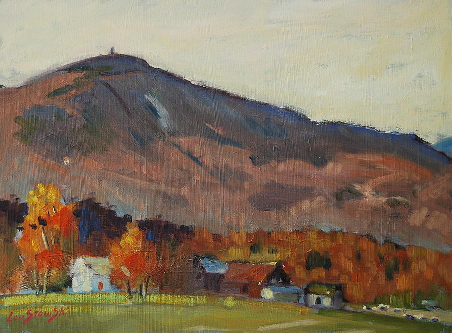 Berkshire Hills Paintings Painting - Autumn On The Mountain by Len Stomski