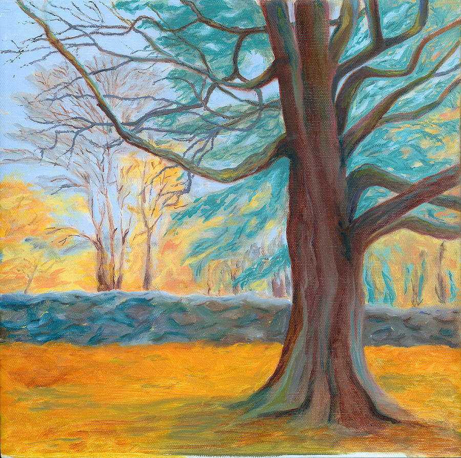 Landscape Painting - Autumn On The Preserve by Paula Emery