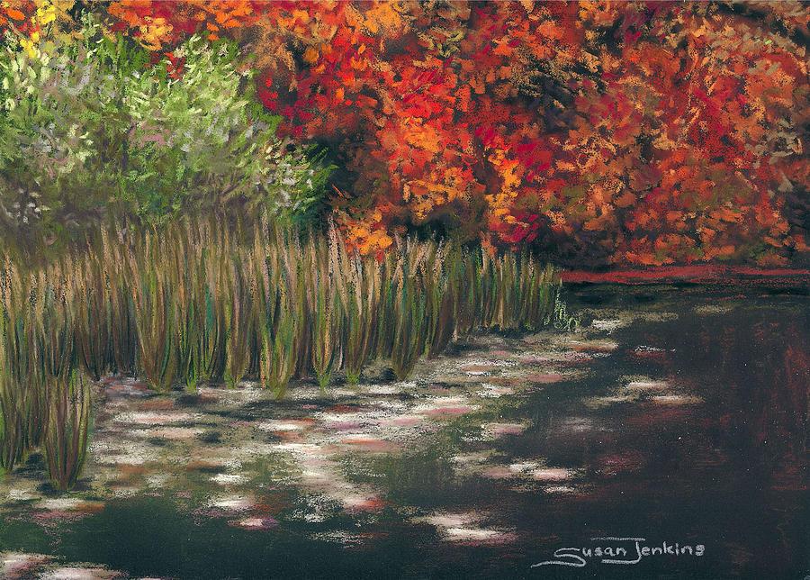 Landscape Painting - Autumn Pond by Susan Jenkins