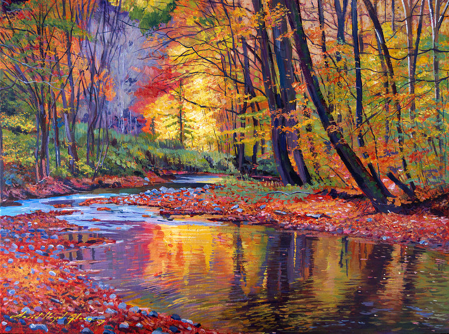 Landscape Painting - Autumn Prelude by David Lloyd Glover