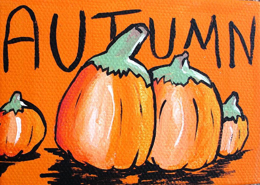 Autumn Pumpkins Painting