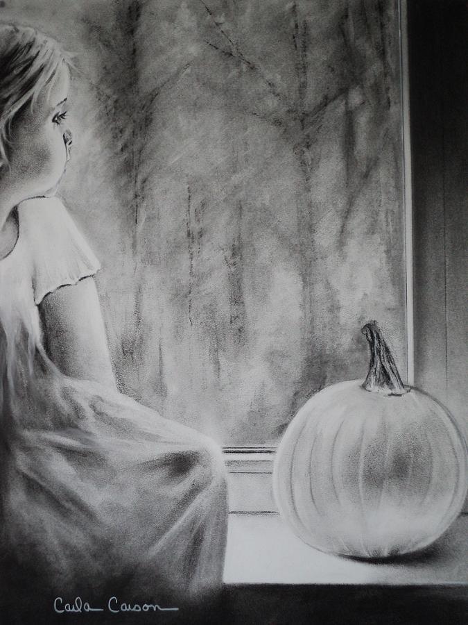 Autumn Drawing - Autumn Rain by Carla Carson