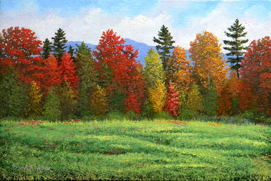 Autumn Trees Painting By Frank Wilson