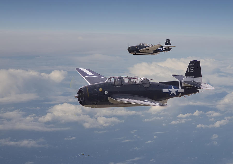 Aircraft Photograph - Avenger Strike by Pat Speirs