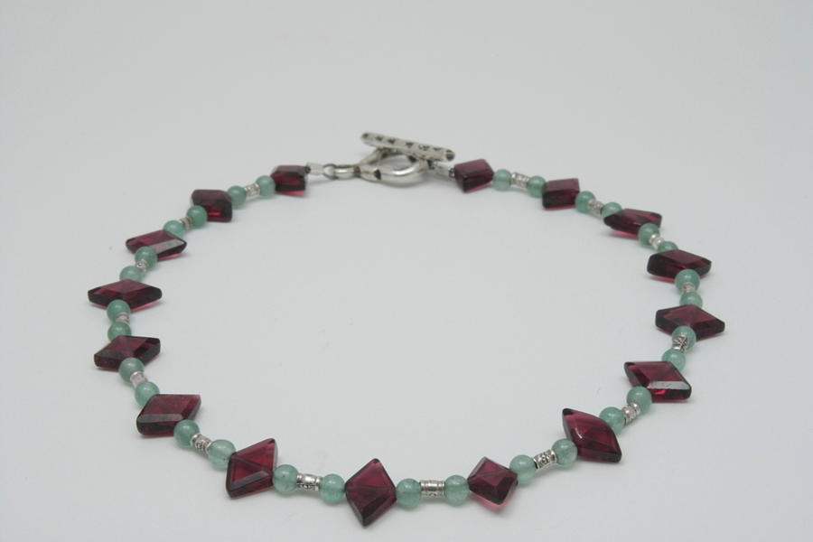 Jewelry Jewelry - Aventurine And Garnet by Jerri Nielsen