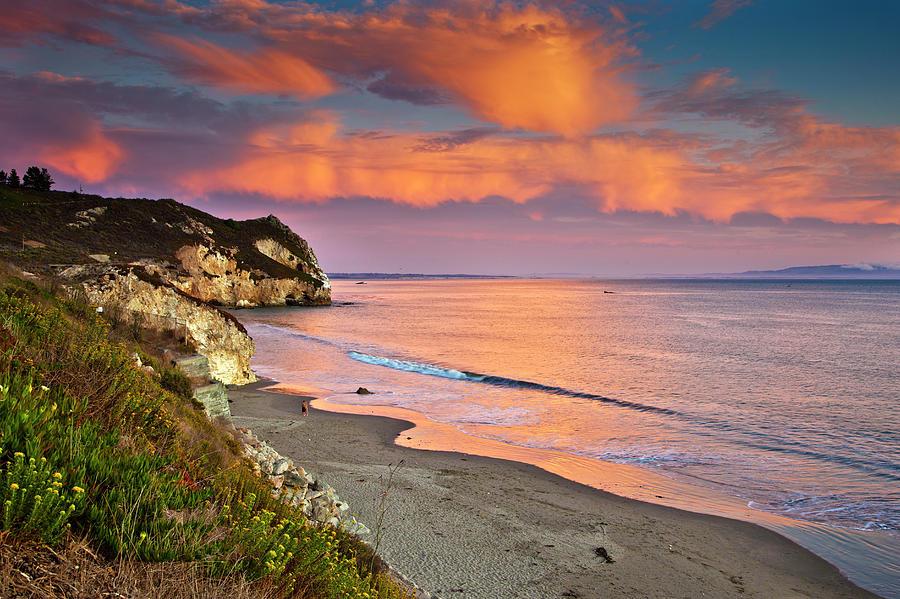 Avila Beach At Sunset Photograph