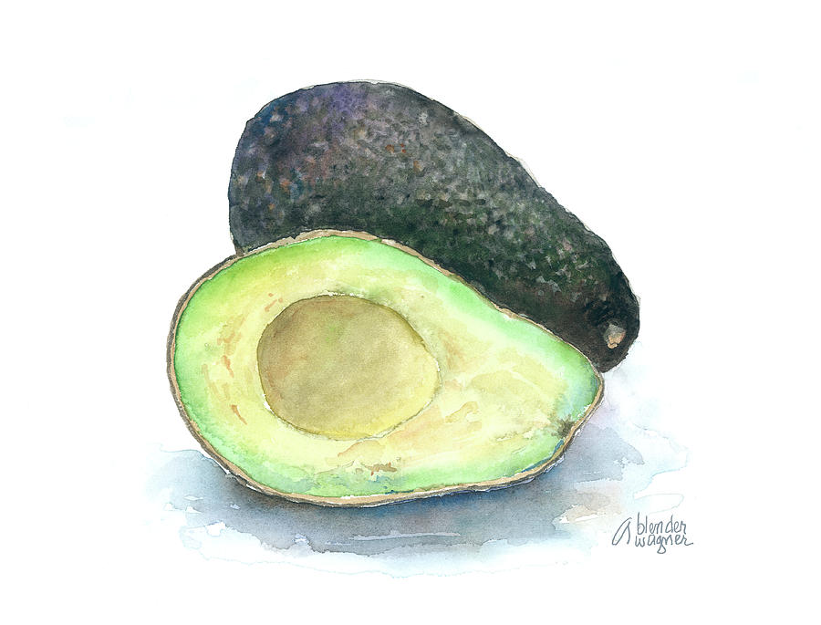 Avocados Painting by Arline Wagner