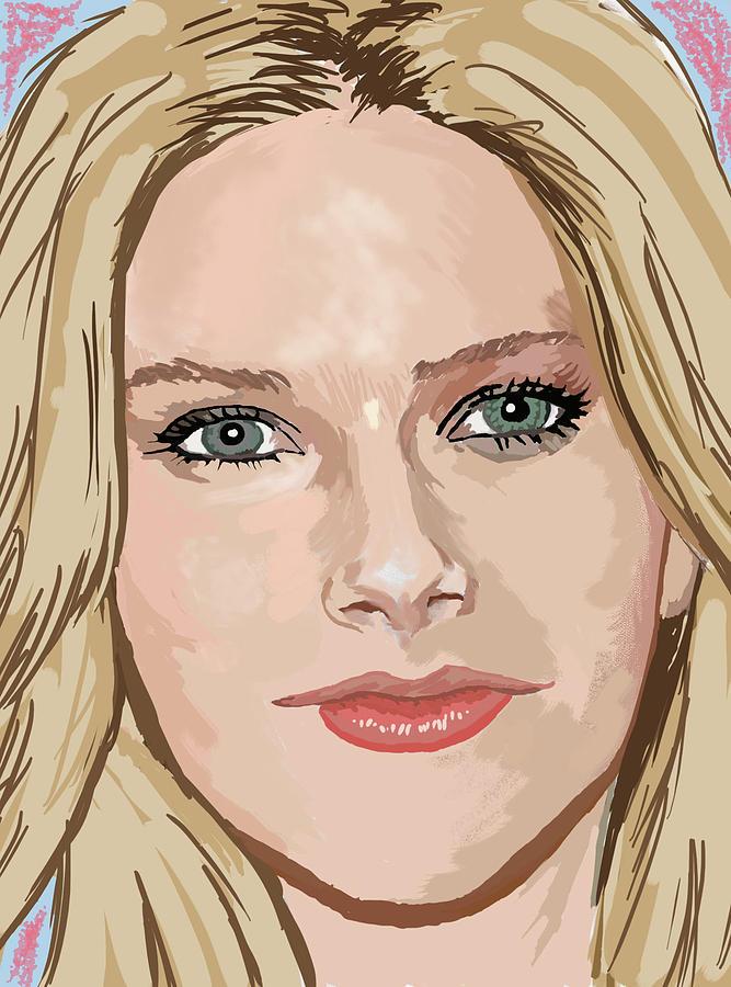 Avril Digital Art - Avril Lavigne by Colin Hockless
