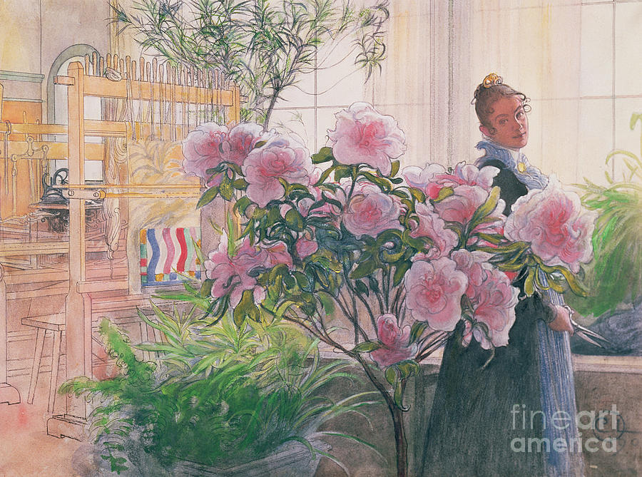 Azalea Painting - Azalea by Carl Larsson
