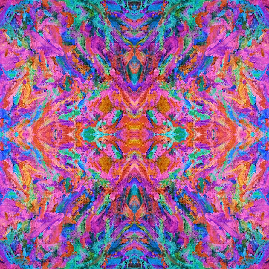 Aztec Kaleidoscope - Pattern 023 Painting by Julie Turner