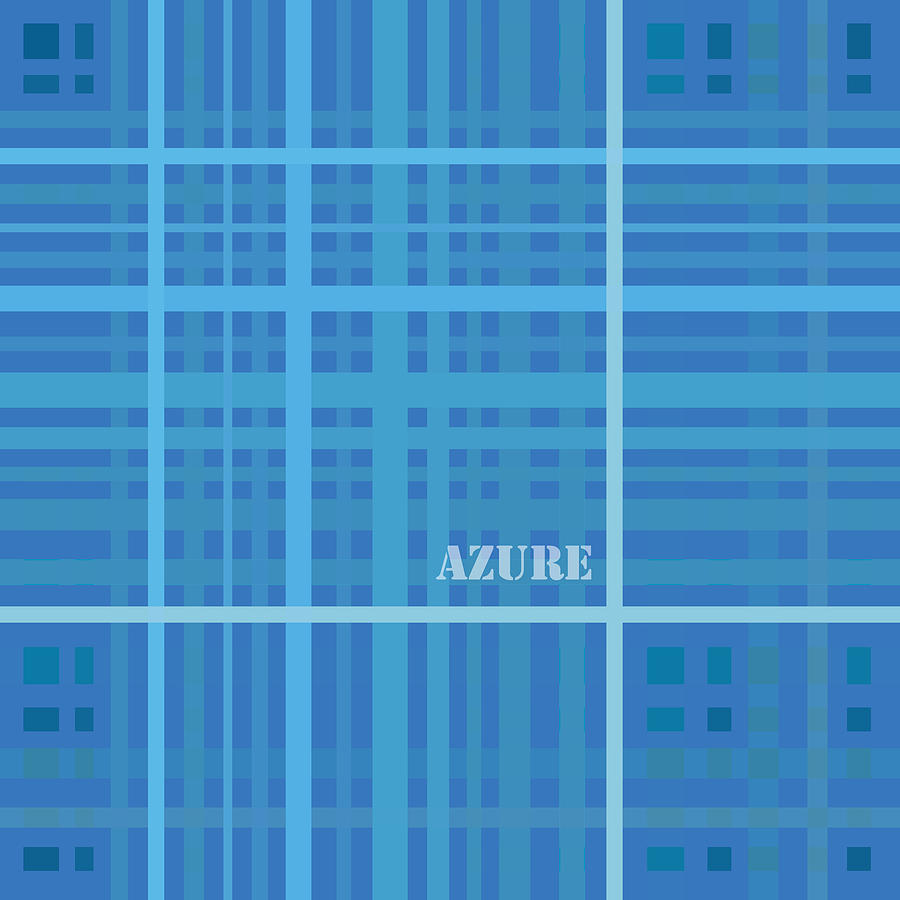 Azure Blue Abstract Drawing