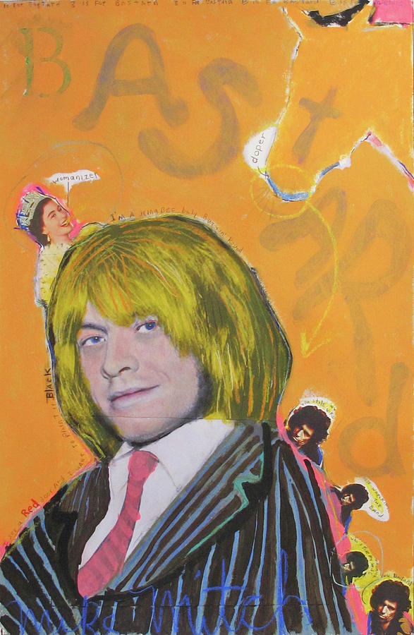 Brian Jones Painting - B Is For Bastard by Mike  Mitch