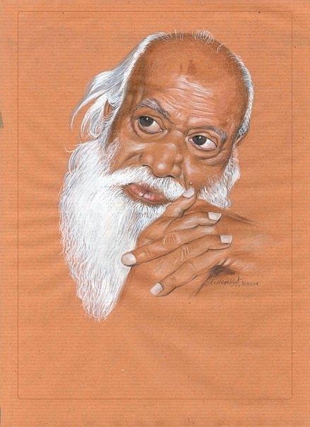 Portrait Painting Painting - Baba by Venkat Meruvu