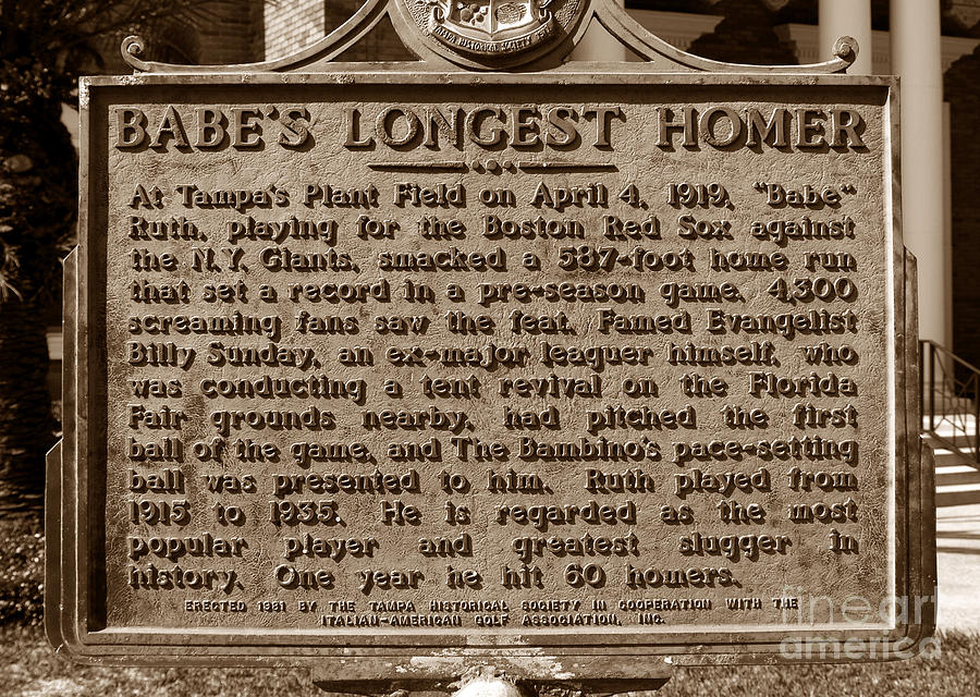 Babes Longest Homer Photograph