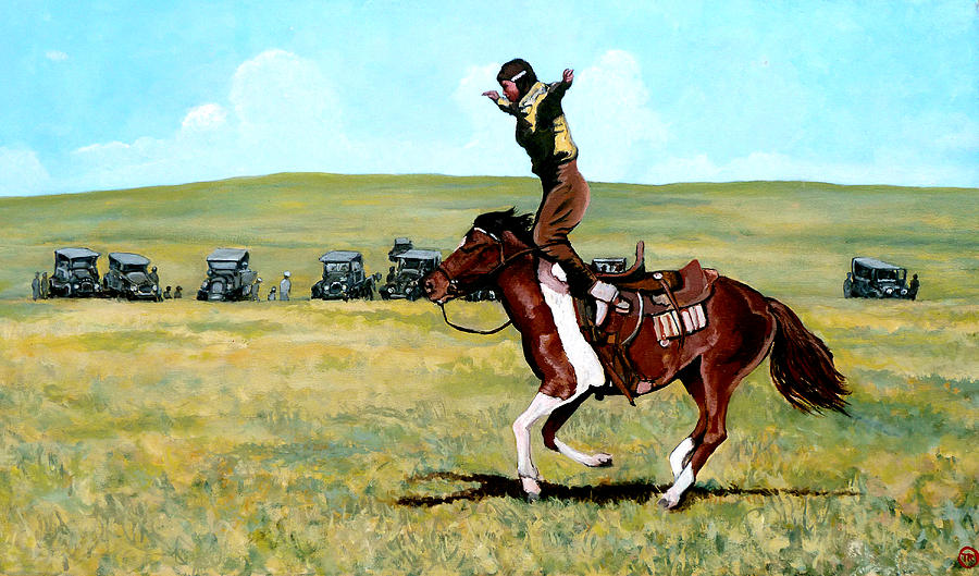Bull Painting - Babette Rides Again by Tom Roderick