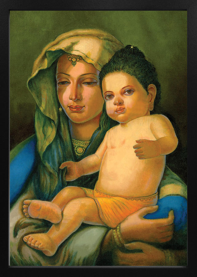 Baby Buddha Mother Painting By Arttantra