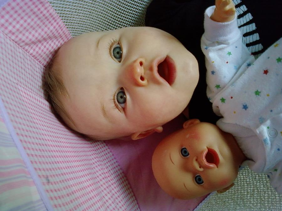 Twins Photograph - Baby Doll by Rachelle Johnston