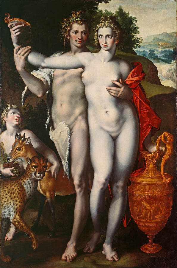 Bacchus And Venus Painting - Bacchus And Venus by Bartholomaeus Spranger