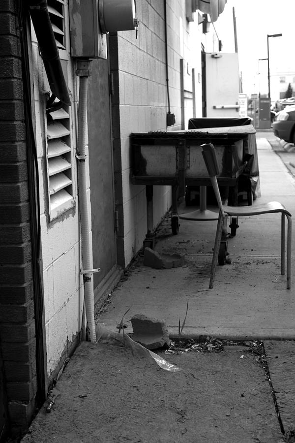Street Photograph - Back Alley View by Pam Walker