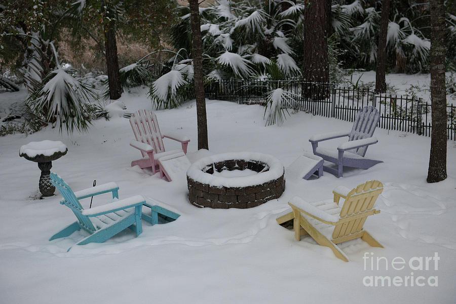 Back Yard Winter Scene Photograph