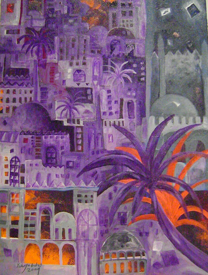 City Painting - Baghdad In Dreems by Yahya Batat