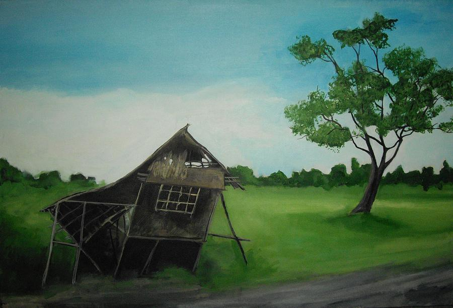 Nipa Hut Painting - Bahay Kubo by Robert Cunningham