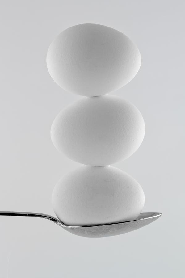 Balancing Eggs Photograph