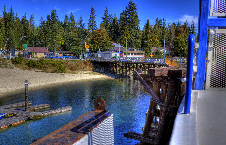 British Columbia Photograph - Balfour Bc Docks And Ferry  by Lee  Santa