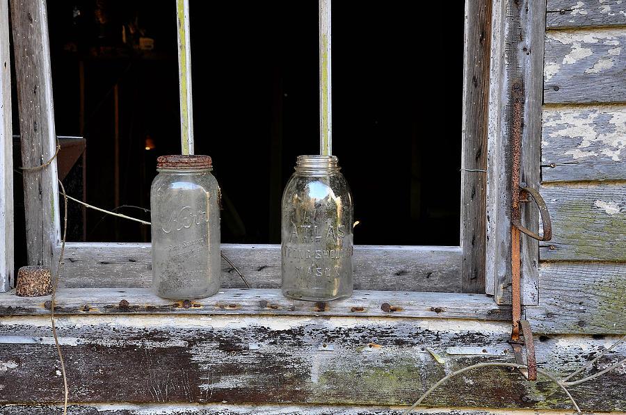 Mason Jar Photograph - Ball And Atlas by Todd Hostetter