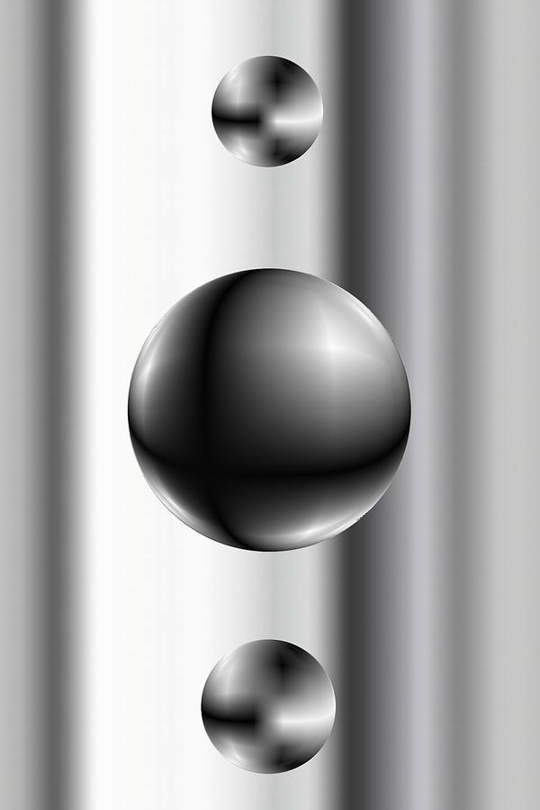 Abstsract Digital Art - Ball by James Eugene Albert