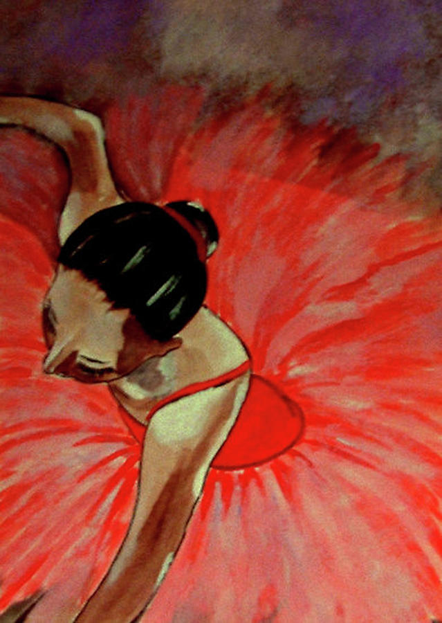 France Painting - Ballerine Rouge by Rusty Woodward Gladdish