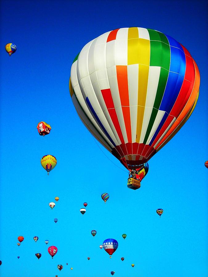 Quebec Photograph - Balloon Festival by Juergen Weiss